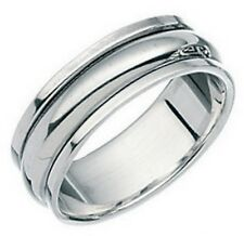 Elements 925 Polished Sterling Silver Slimline Plain Band Spinning Stress Ring