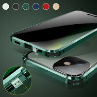For iPhone 12 11 Pro Max Magnetic 360 Full Tempered Glass Case Anti Spy Privacy