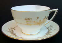 1970's Minton Gold Pandora H5230 Pattern 200ml Tea Cups & Saucers Look in VGC