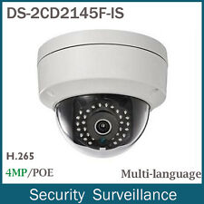 US Stock Hikvision DS-2CD2145F-IS 4MP POE Mini Dome Network IP Camera Audio IP66