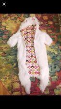 White Cat Faux Fur Festival Coat Cat Ears Hooded Handmade