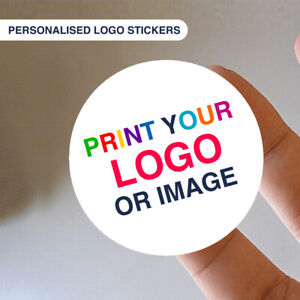 30mm Personalised Business Name Stickers Thank You Logo Labels WATERPROOF E13