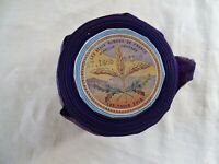 Antique French Unused Purple Satin Ribbon Moire The Beautiful Ribbons France  9y