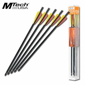 """RIFLE CROSSBOW BOLTS   Mtech Premium 14"""" Black Aluminum Arrows - Quantity 5"""