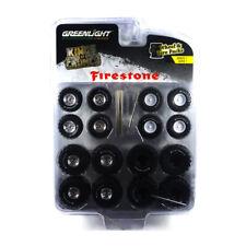 "Greenlight 16010-A Tyre Set "" Kings Of Crunch Firestone "" - Wheel & Tires New !°"