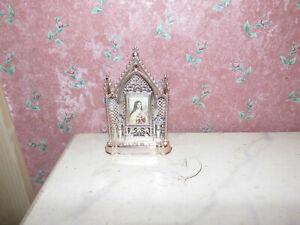 Alter Altar-Hl. Theresia-um 1950-Puppenhaus-Puppenstube-Museum
