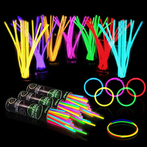 300 Glow Sticks Bulk Party Supplies - Glow in The Dark Fun Party Favors Pack 8