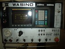 "Wasino LJ-102 cnc lathe 10"" with slightly used SMW barfeed"