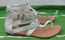 Womens Summer White Womens Shoes Ankle Strap Sexy Sandals Size 8