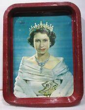 "1953 Queen Elizabeth II Coronation Serving Tray Karsh Photo 12"" x ""16"" x 1/14 """