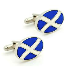 SCOTLAND FLAG CUFFLINKS Saint St Andrews Cross Saltire Scottish NEW w GIFT BAG