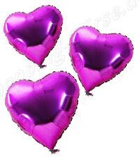 !!! Folienballon, Herzballon, für Helium Farbe PurPur Inhalt 50 Ballons !!!