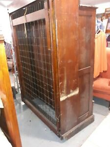 Antique Murphy Bed with attached Wardrobe/mirror RARE WONDERFUL
