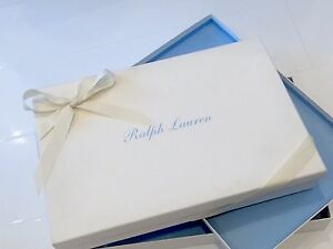 RALPH LAUREN Small White Blue Font Rectangle Gift Box