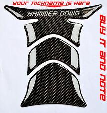 Custom NICKNAME Yamaha Ducati Triumph Kawasaki carbon fiber tank protector pad