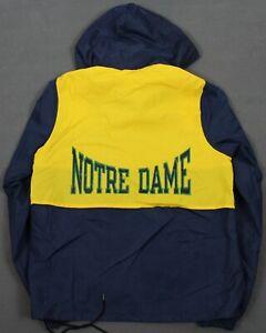 Notre Dame Fighting Irish Vintage Champion USA Windbreaker Jacket Small 90's