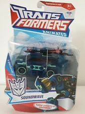 Transformers Animated Deluxe Soundwave Decepticon Action Figure - New Rare
