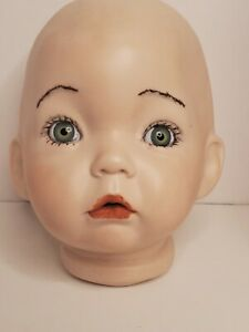 Vtg Dianna Effner Bisque Aaron Porcelain Doll Head Expressions 1991 For Repair
