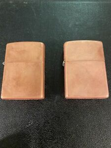 Lot of 2 Solid Copper Zippo Lighters 03  (Dated  2003) Unused