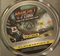 Mint Disc Playstation 3 Ps3 Ratchet & Clank A Crack in Time and Disc only