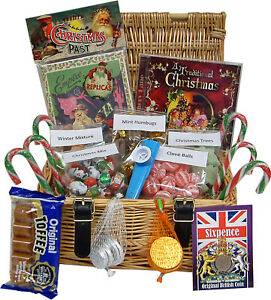Nostalgic Christmas Hamper with Memorabilia and Sweets