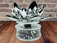 Candle Holder Candal Stand TeaLight Crushed Diamond Home Decor ornament Crystal