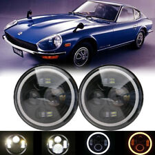 "2x 7"" Inch Round LED Headlight Hi/Lo For Datsun 240Z 260Z 280Z 280ZX 1970-1978"