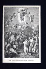 La trasfigurazione, dipinto di Raffaello Incisione del 1875