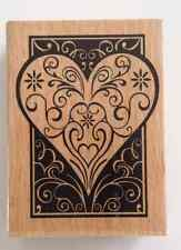 1 pc Large Heart Lace Rubber Stamp Scrapbook Heart Ink Pad Stamping Embossing