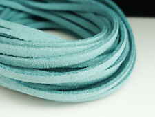 5m x 3mm Turquois Blue Faux Imitation Suede Cord Thong Lace Beading Necklace F74