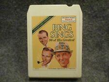 Vintage 8 Track Tape Bing Sings 96 Of His Greatest Hits Tape 2 Readers RD8-5494
