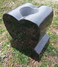 """Heart Granite Vase Black  (6""""x4.5""""x7.5"""")"""