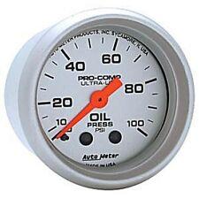 "Auto Meter 4321 Gauge Oil Pressure 2 1/16"" 100psi Mechanical Ultra-Lite"