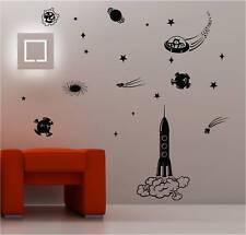 Espace Paquet Fusée Art mural autocollant vinyle chambre d'enfant