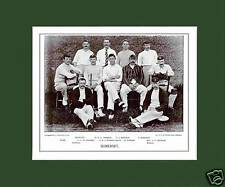 MOUNTED CRICKET TEAM PRINT - SOMERSET - 1895