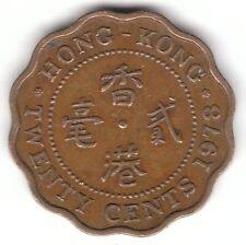 Hong Kong 1978 20 centavos moneda de níquel-Latón