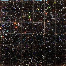 11 x SHEETS OF 36 GALAXY BLACK HI-LIGHT GLASS MOSAIC TILES