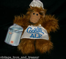 VINTAGE ALF ALIEN HAND PUPPET TAG DOLL STUFFED ANIMAL PLUSH TOY 1988 BURGER KING