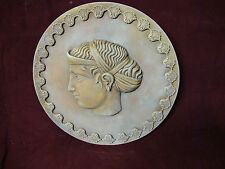 Helen of Troy wall PLAQUE relief stone sculpture ART HOME DECOR relief frize
