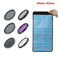 6X 49 52 62 67 72 77 82mm UV CPL FLD ND2 ND4 ND8 Lens Filter Kit for Nikon Canon