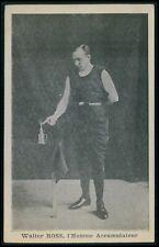 Circus freak show The Electric Man original old 1910s postcard size card