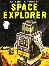 ADVERT TOY BATTERY OPERATED SPACE EXPLORER ROBOT ART POSTER PRINT LV263