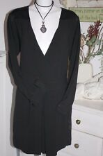 Noa Noa Kleid Dress Heavy Crepe Black Langarm Size: S/36  Neu