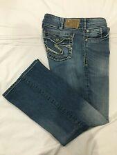 (*.*) SILVER JEANS * Womens SUKI SURPLUS Blue Jeans / Denim * Size 32 x 28 SHORT