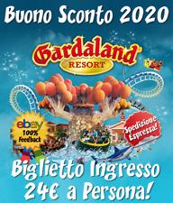 40% DI SCONTO FINO A 4 INGRESSI CON UN SOLO BUONO! COUPON GARDALAND 2020