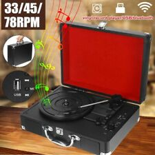 Bluetooth Vintage Portable Music Player With Speakers Phonograph Player Record.