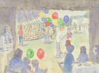 Ann Matthews - Signed 20th Century Pen and Ink Drawing, The Tea Tent