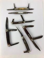 Vintage USA Schrade Old Timer + More 6  Knife Lot Bundle Jack Knife FSTSHP