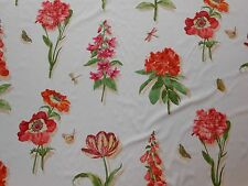 6Y new LEE JOFA fabric WESTBURY printed cotton large floral design pink green