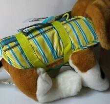 "NWT ""Martha Stewart Pets"" Dogs Blue Striped Reflective Lifejacket, XS"
